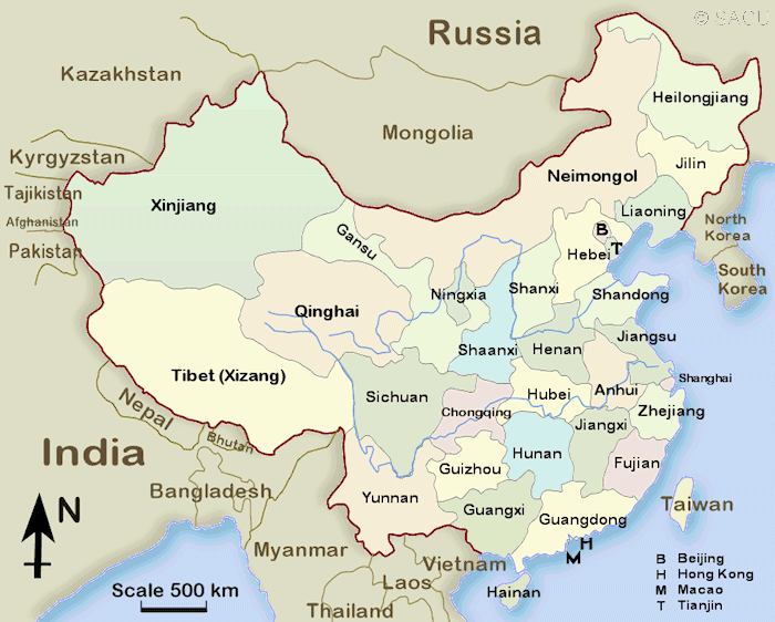 China Provinces Map Province Map   Society for Anglo Chinese Understanding (SACU)